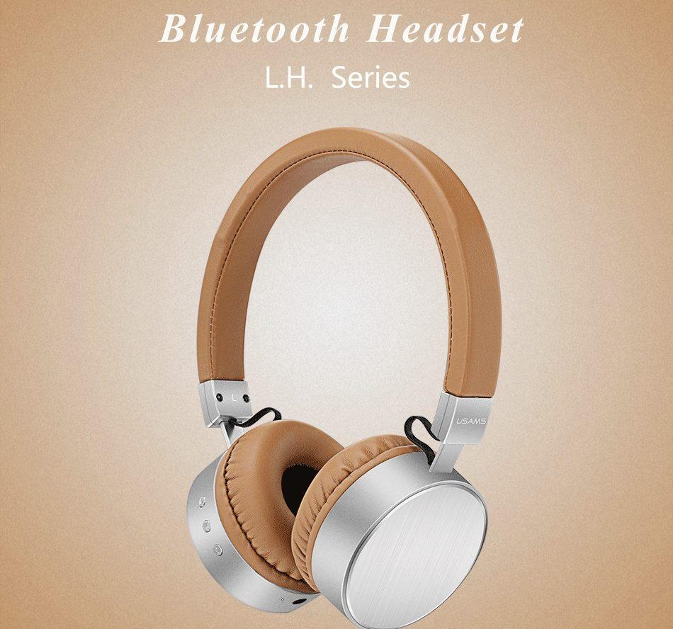 Căști Bluetooth piele