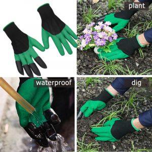 Mănuși cu gheare pentru grădină