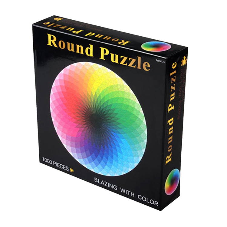 Puzzle rotund cu 1000 de culori