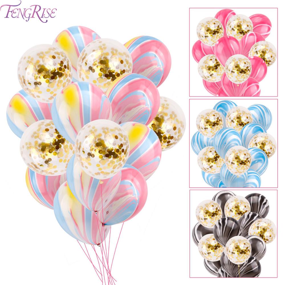 Baloane aniversare transparente cu confetti