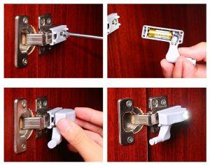 Lampă pentru dulap cu senzor de ușă