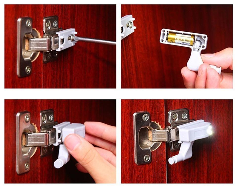 Lampă dulap cu senzor ușă
