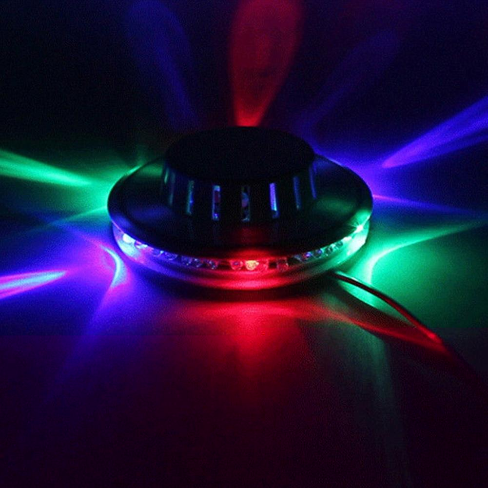 Lampă multicoloră cu lumini rotative